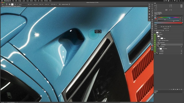 Car Retouching: Low Median Workflow