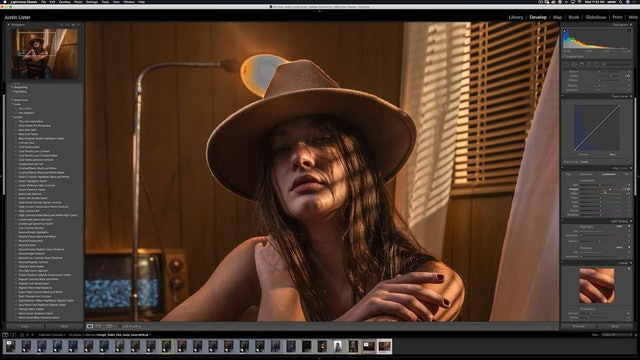 Portraiture - Cowgirl Motel in Studio - Raw Processing & Cleanup