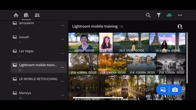 Lightroom Mobile CC  15  Viewing the photos