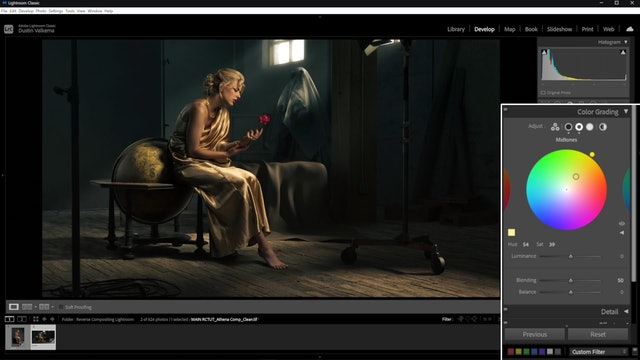 04-25 Grading And Adjustments To Shot 1 In Adobe Lightroom