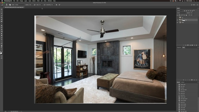 Master Bedroom Shoot I-Photoshop Compositing