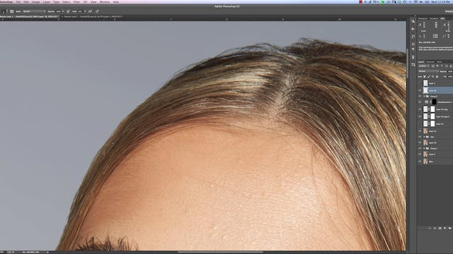 Adding Stray Hairs-Beauty