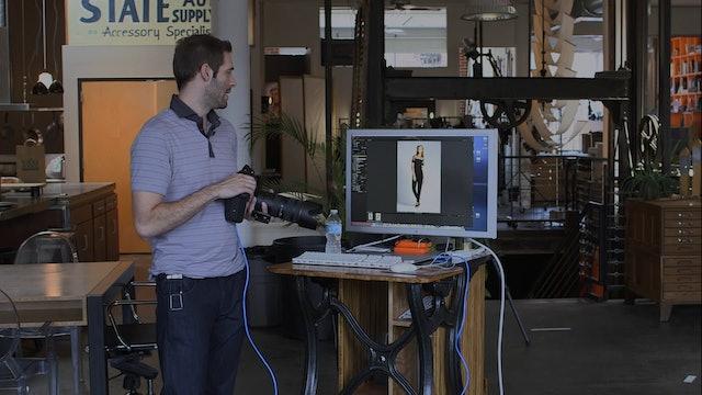 Editorial Lighting and Camera Settings Look 1