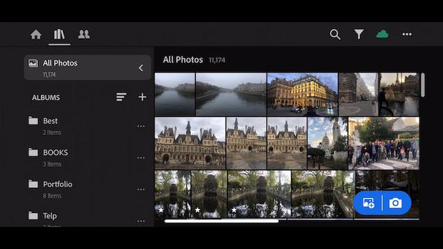 Lightroom Mobile CC  6 Pre selecting the photo