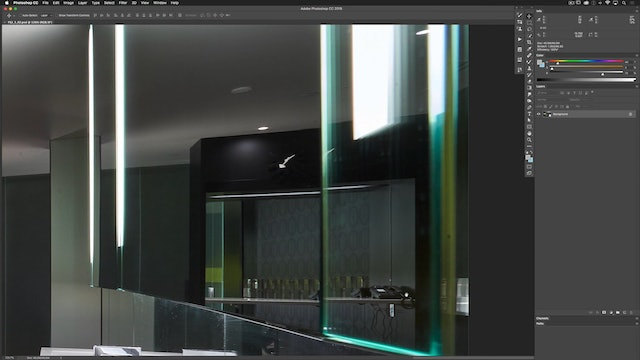 Architectural Retouching: Interior Surface Cleanup