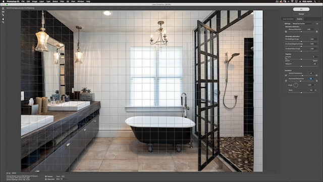 Master Bath-Photoshop Compositing
