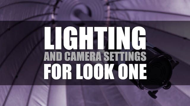 Portrait Lighting and Camera Settings Look 1