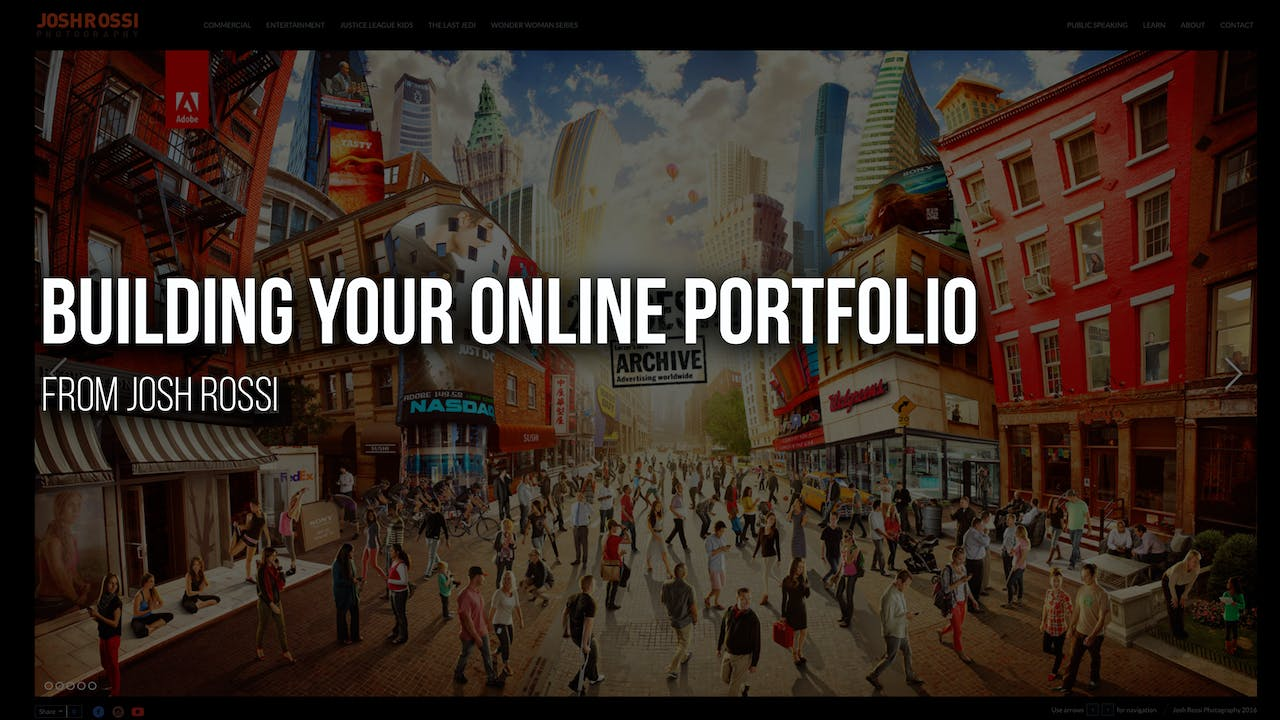 Building Your Online Portfolio with Josh Rossi