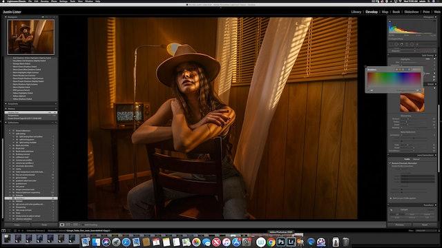Portraiture - Cowgirl Motel in Studio - Color Grading