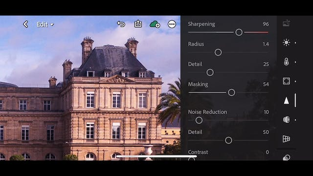 Lightroom Mobile CC  7 Global Correction