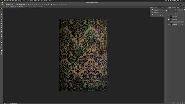 Wallpaper Textures - How To Apply Digital Textures & Backgrounds
