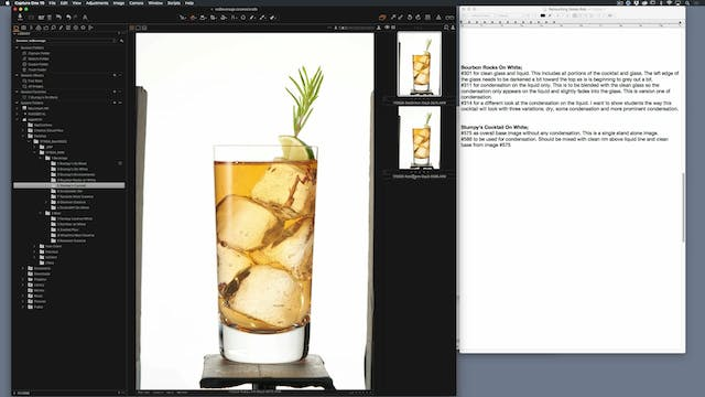 Cocktail with Garnish- Full Edit