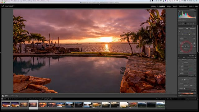 How retouch sunset of Florida'