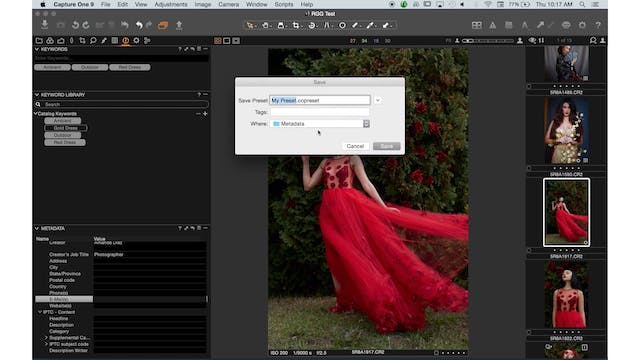 Capture One 01-14-Keywords & Process Recipes