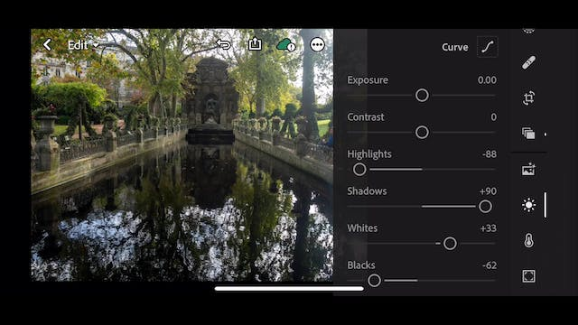 Lightroom Mobile CC  9 Example of retouching Part 1