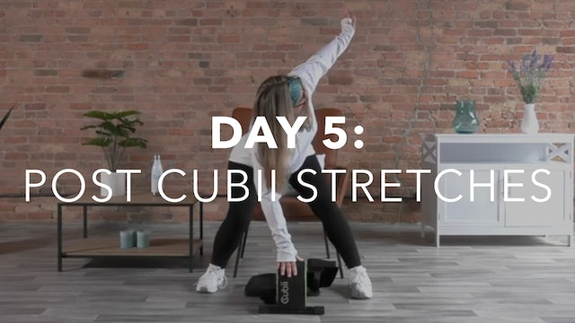 Getting Started Collection Day 5: 15-Min Post Cubii Stretches with Anne