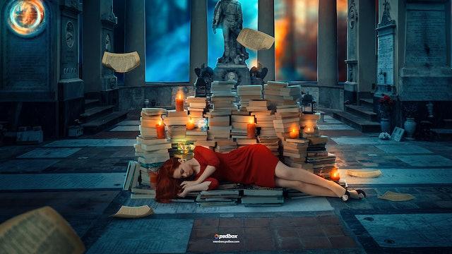 Books Fantasy Manipulation in Photoshop CC