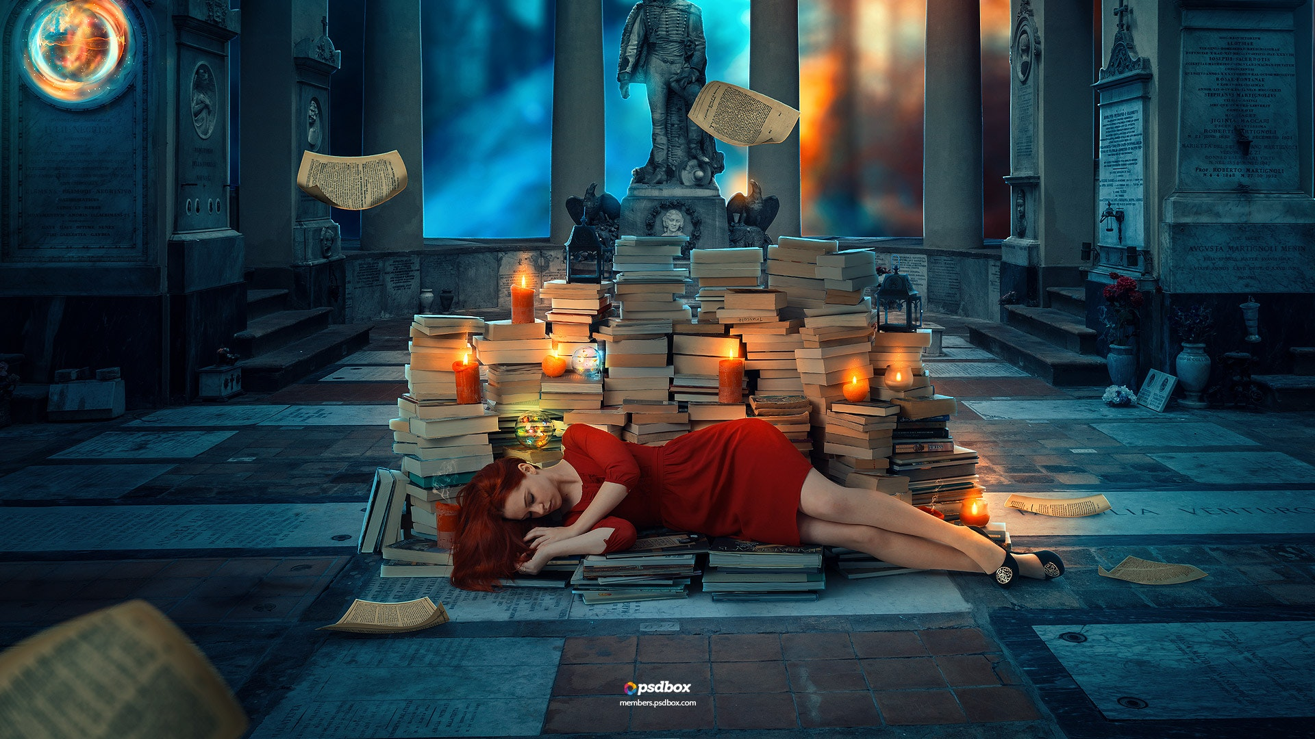 Books Fantasy Manipulation in Photoshop CC