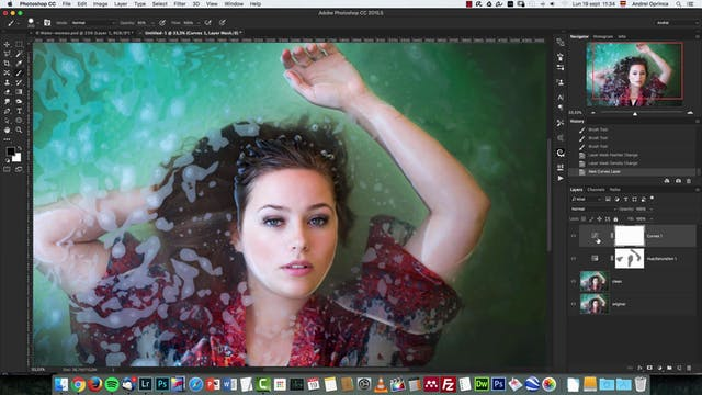 Water Portrait Editing