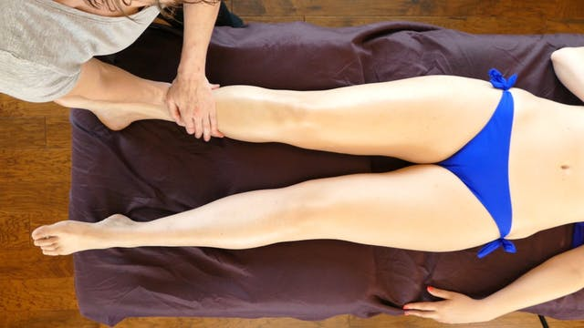 Supine Leg Massage & Desert Meditatio...