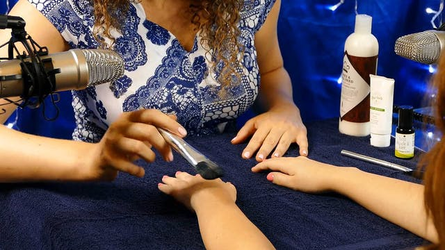 ASMR Manicure Spa Treatment
