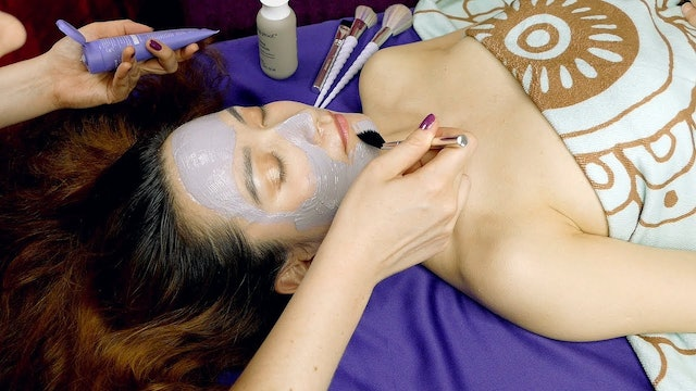 Brightening Purple Clay Mask ♥ ASMR Spa Treatment, Beauty, Relaxation & Pamperin