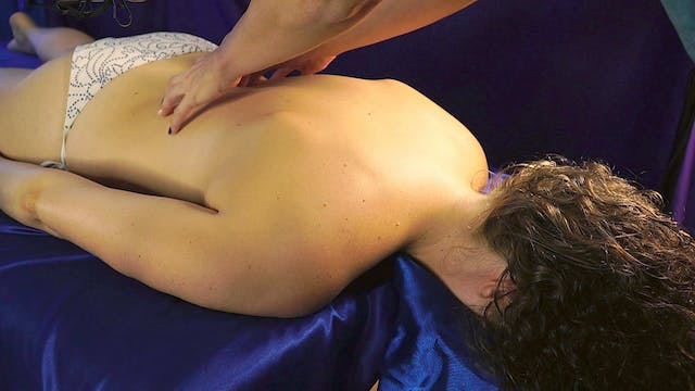 Relaxing Back Massage & Lotion Sounds