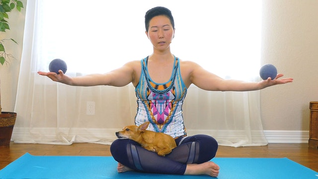 Yin Yoga with Props for Relieving Tension
