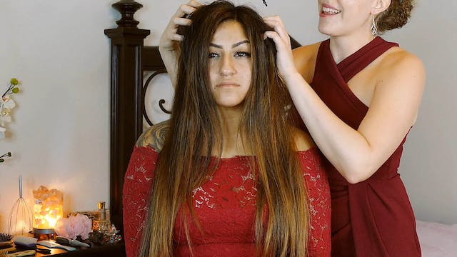 Relaxing ASMR Hair Brushing & Scalp M...