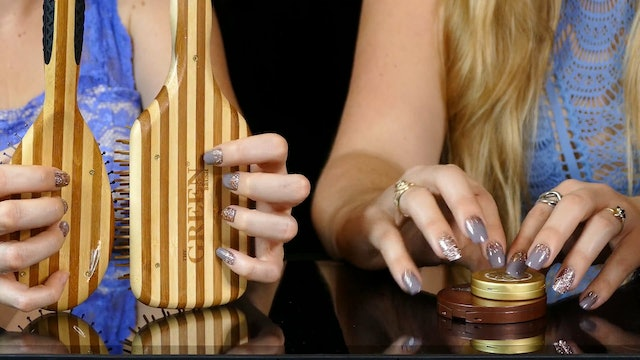 4 Hands Tapping & Scratching, No Talking for Sleep & Tingles, Glamour Nails