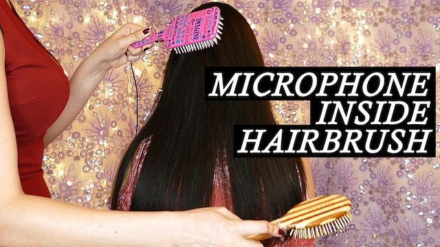 Natalia, Hair Brushing Back with Brush Mics