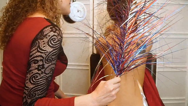 Corrina & Julia, Back Tickling, Tracing & Brushing