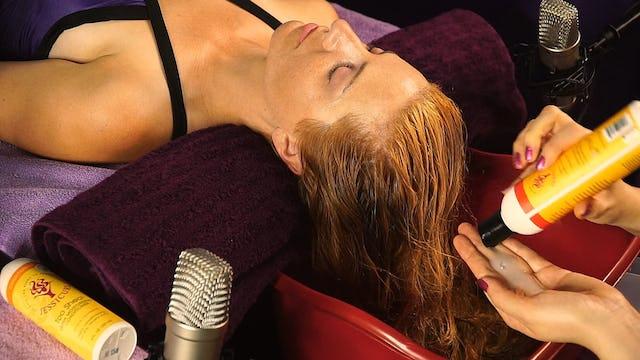 ASMR Hair Washing, Scalp Massage & Conditioning