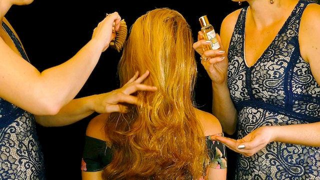 Adrienne Hair Brushing with Oil Treatment