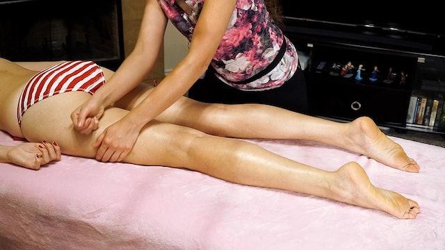 Leg Massage Sounds (No Talking)