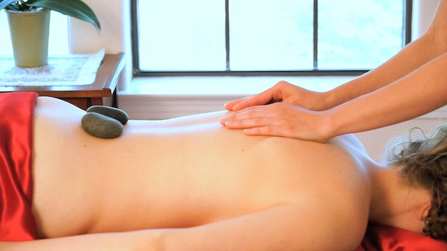 Hot Stone Back Massage Part 1