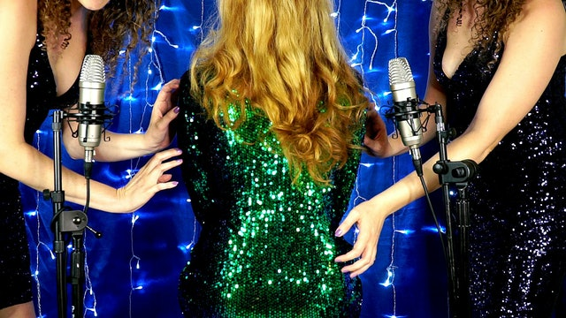 Back Tickling With Sequin Sparkles!