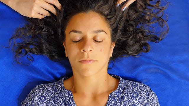Tingly Scalp Massage for Sleep with Corrina & Jess