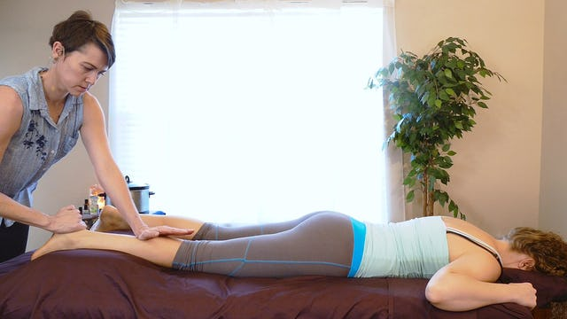 Prone Warm Up Stretches for Pain with Jade