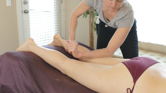 Back of Legs Massage & Beach Meditation with Jade