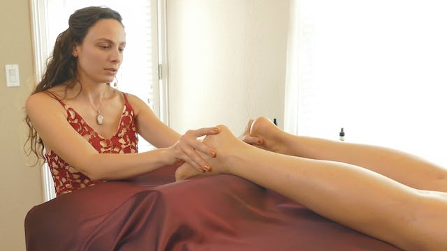 Relaxing Foot Massage Demonstration with Melissa