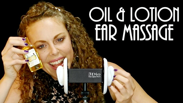 Oil and Lotion Ear Massage