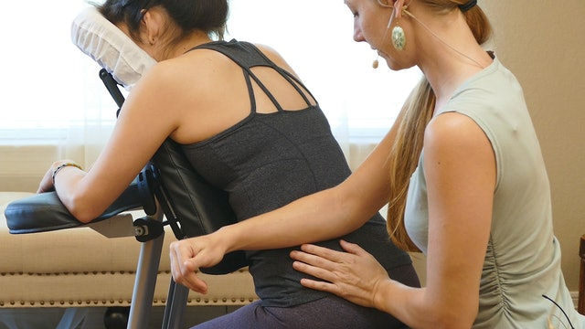 Chair Massage: Low Back, Glutes and Legs (Meera)