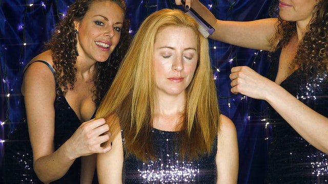 Starry Night Hair Brushing with Corrina & Adrienne