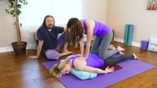 Partner Yoga Massage: Glutes Part 2