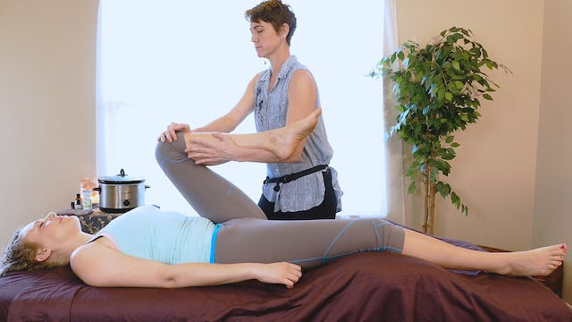 Supine Warm Up Stretches for Pain with Jade