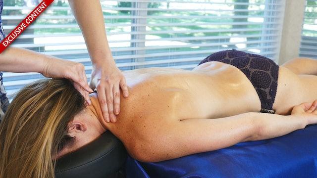 Neck Pain Relief Massage Part 2, Corrina & Dani