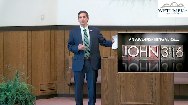 """Eric Lyons: What Does """"Believe"""" Mean in John 3:16?"""