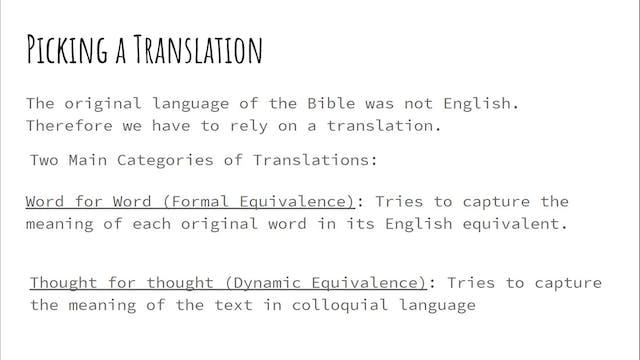 Gina Simpson: Intro to Bible Study (C...