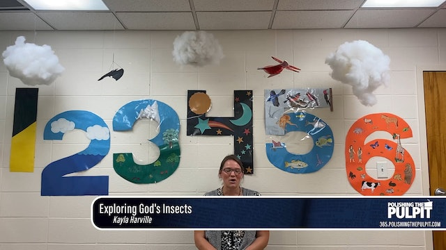 Kayla Harville: Exploring God's Insects (Class for 2-year-olds)